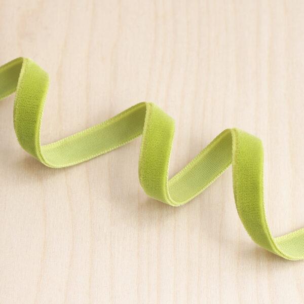 Sage velvet ribbon