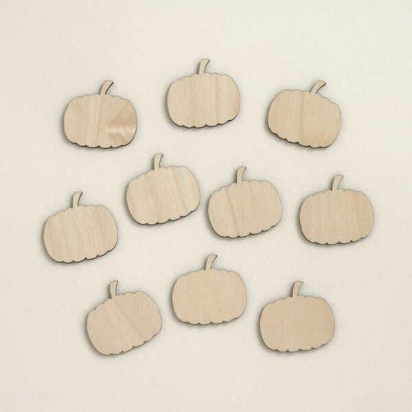 mini wooden pumpkins