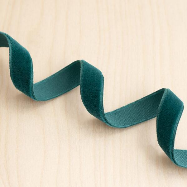 Teal Velvet Ribbon 15mm